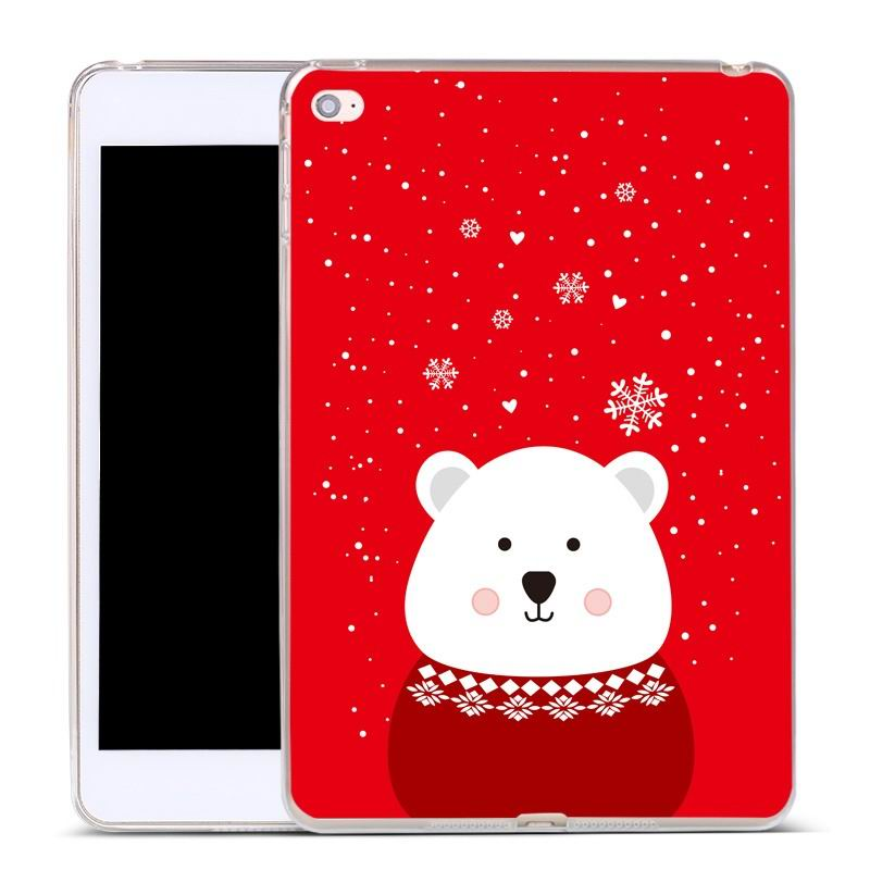 ipad air 2 silicone cover Red fat bear: