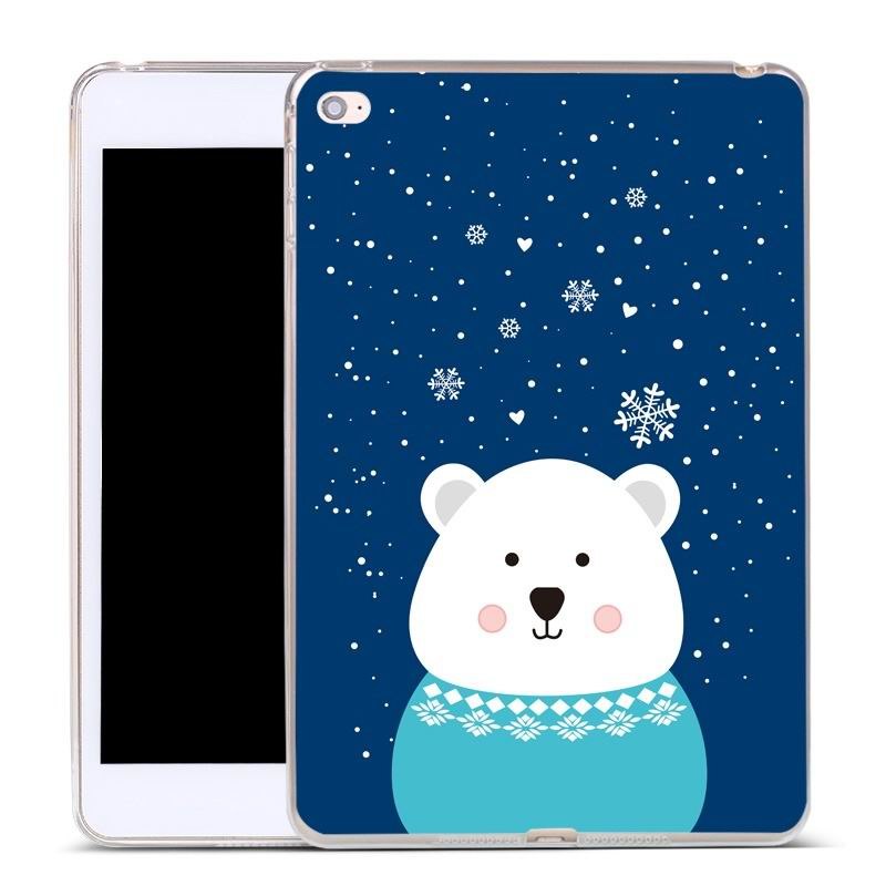 ipad air 2 silicone cover Blue chubby bear: