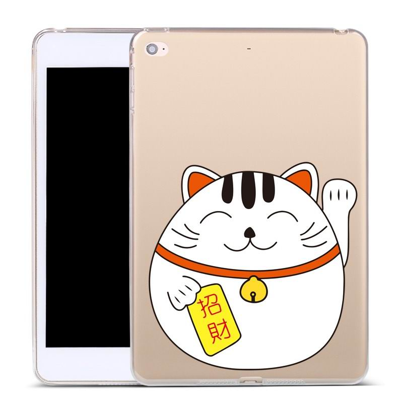 ipad air 2 silicone cover Wealth and fortune cat: