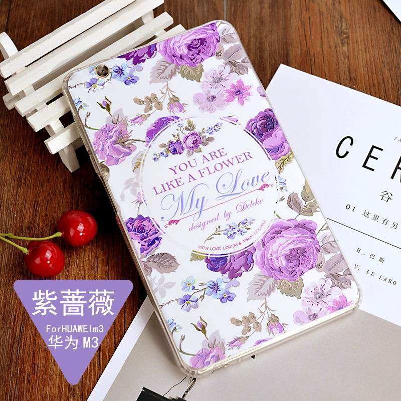 mediapad m3 silicone cover with a huge collection of images 2 Purple rose: