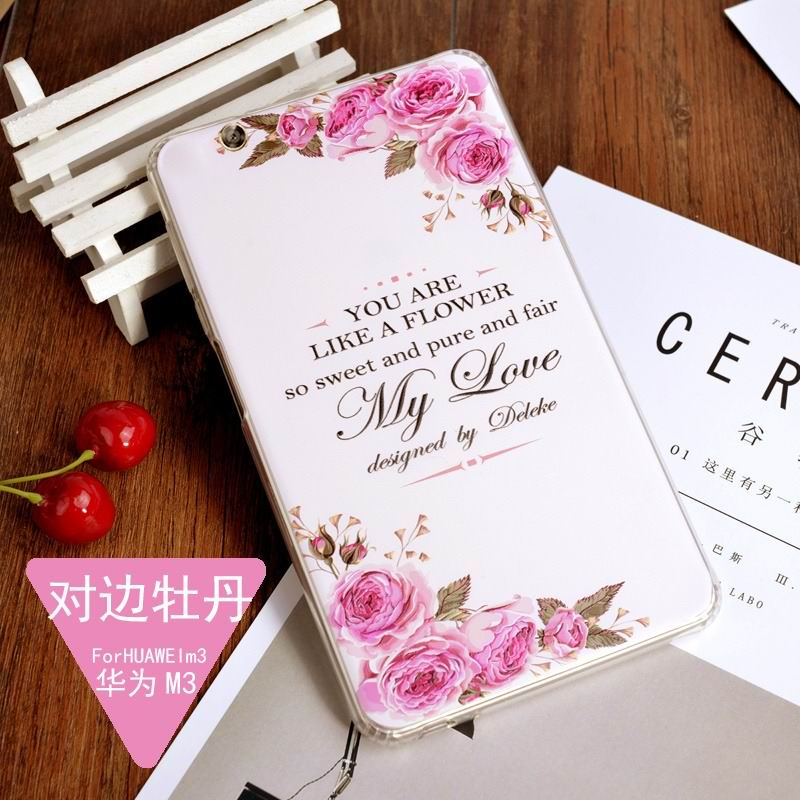mediapad m3 silicone cover with a huge collection of images 2 Peony: