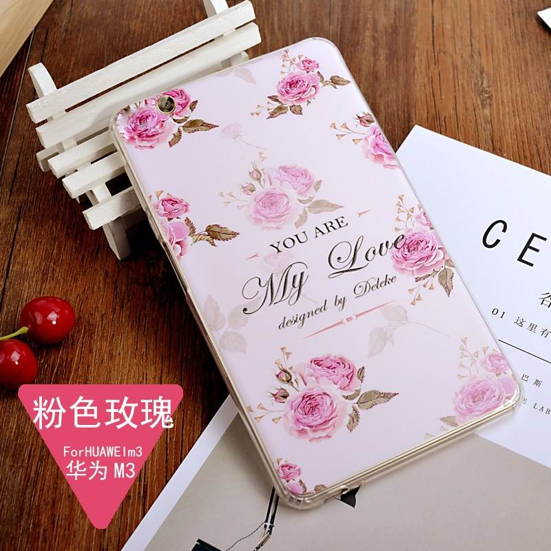 mediapad m3 silicone cover with a huge collection of images 2 Pink rose: