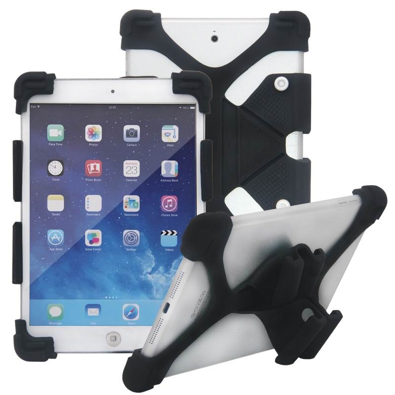 mediapad m3 silicone monochrome cover with flexible stand Black: