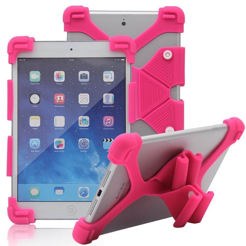 mediapad m3 silicone monochrome cover with flexible stand Rose red: