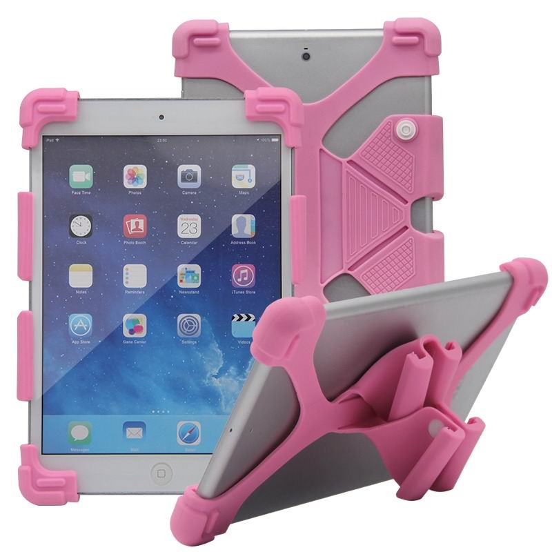 mediapad m3 silicone monochrome cover with flexible stand Pink: