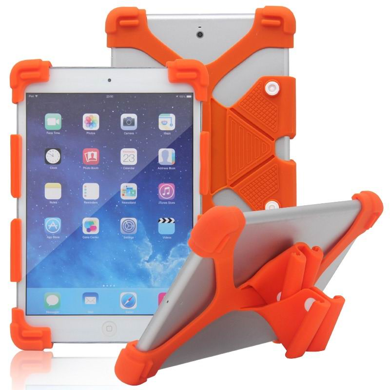 mediapad m3 silicone monochrome cover with flexible stand Orange: