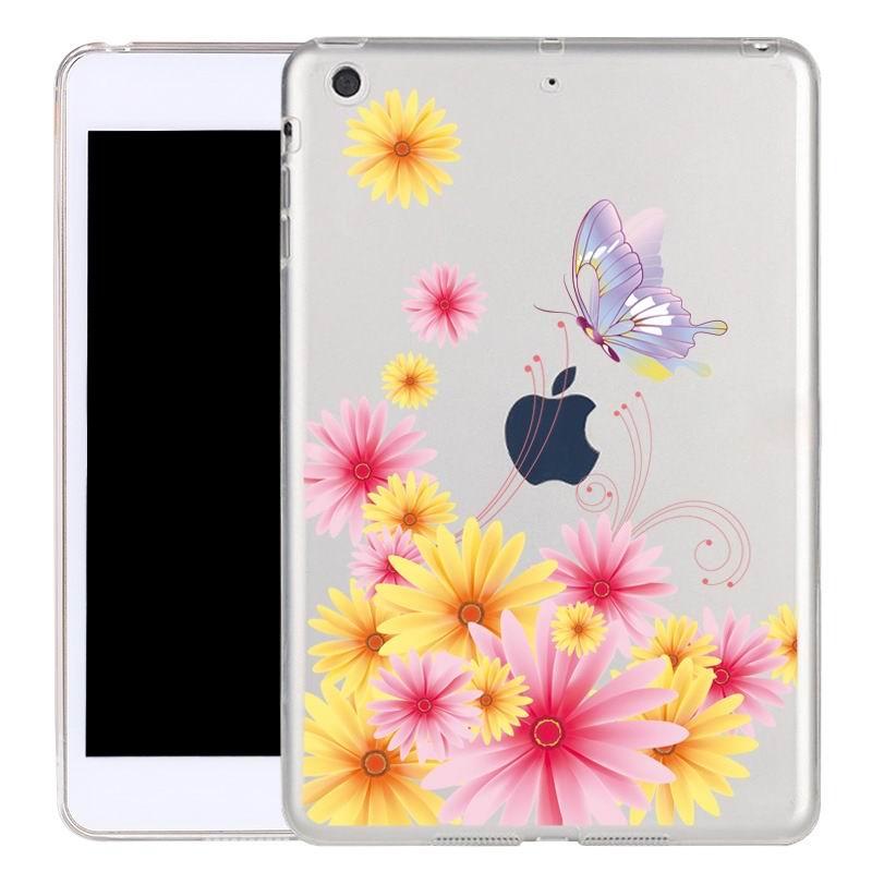ipad air 2 silicone transparent cover with cute illustrations fragrance: