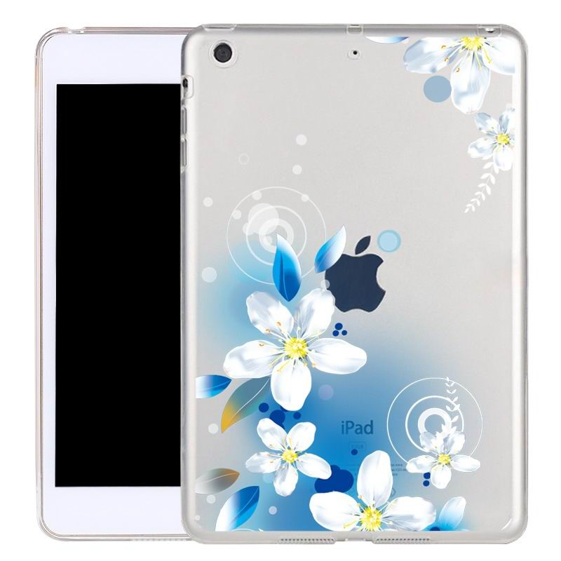 ipad air 2 silicone transparent cover with cute illustrations Lily: