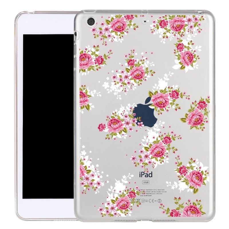 ipad air 2 silicone transparent cover with cute illustrations Rose of the sea: