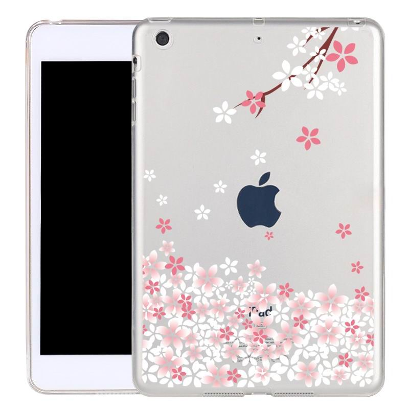 ipad air 2 silicone transparent cover with cute illustrations plum:
