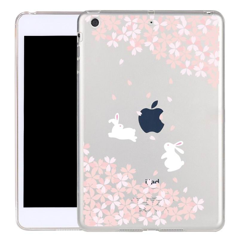 ipad air 2 silicone transparent cover with cute illustrations Sakura: