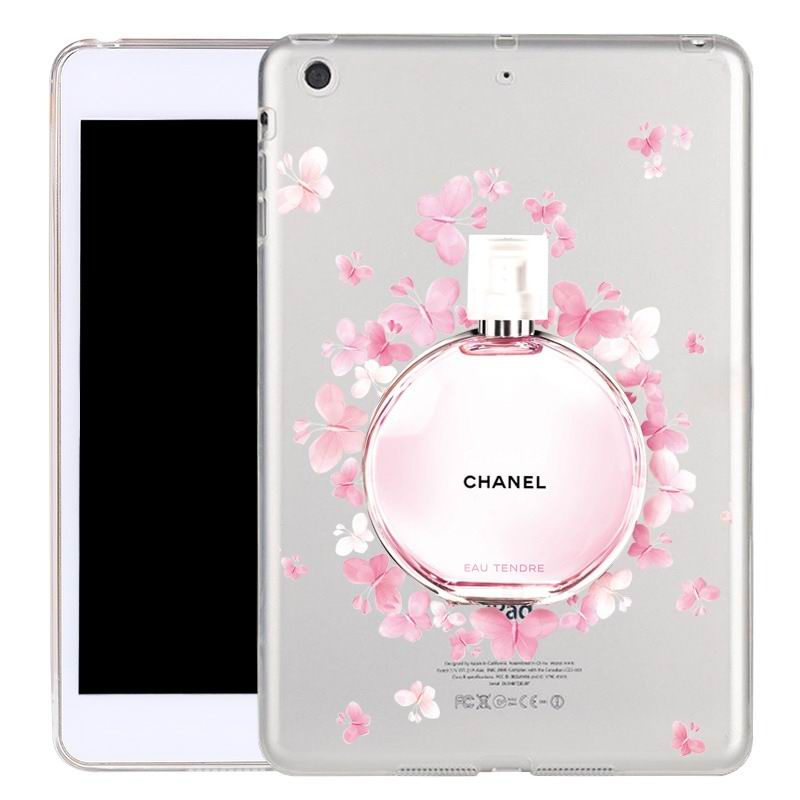 ipad air 2 silicone transparent cover with cute illustrations butterfly perfume: