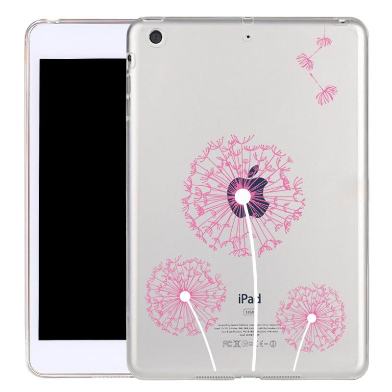 ipad air 2 silicone transparent cover with cute illustrations dandelion: