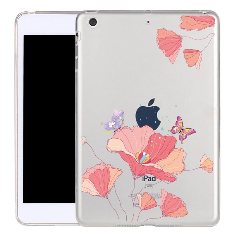ipad air 2 silicone transparent cover with cute illustrations butterfly: