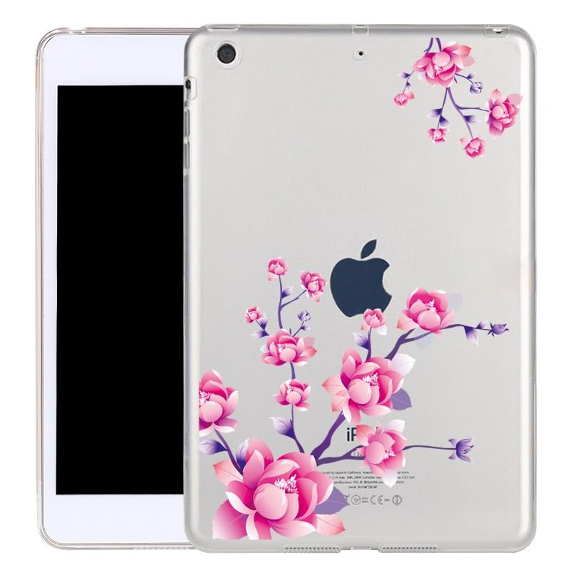 ipad air 2 silicone transparent cover with cute illustrations peach: