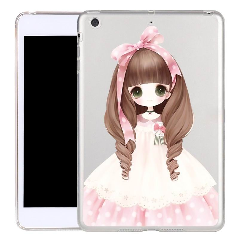 ipad air 2 silicone transparent cover with cute illustrations ocean child: