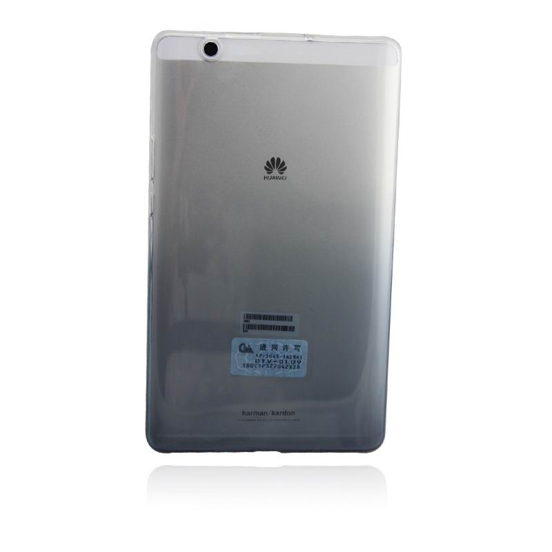 mediapad m3 silicone transparent cover with gradient color Gradient black: