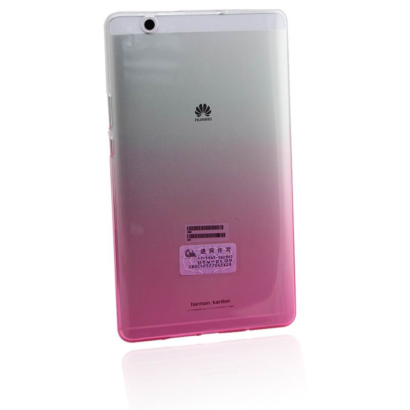 mediapad m3 silicone transparent cover with gradient color Gradient red: