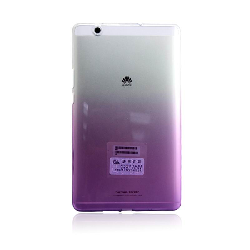 mediapad m3 silicone transparent cover with gradient color Gradient purple: