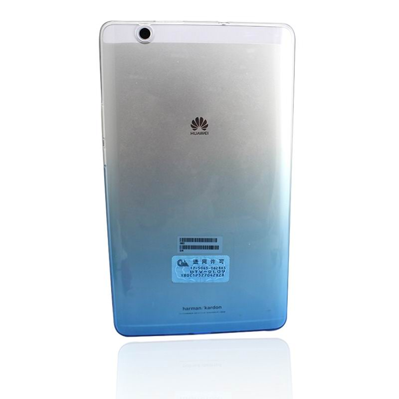 mediapad m3 silicone transparent cover with gradient color Gradient blue: