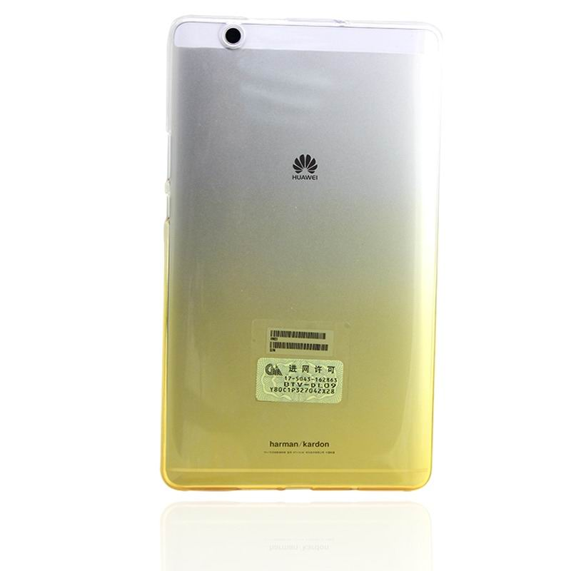 mediapad m3 silicone transparent cover with gradient color Gradient yellow: