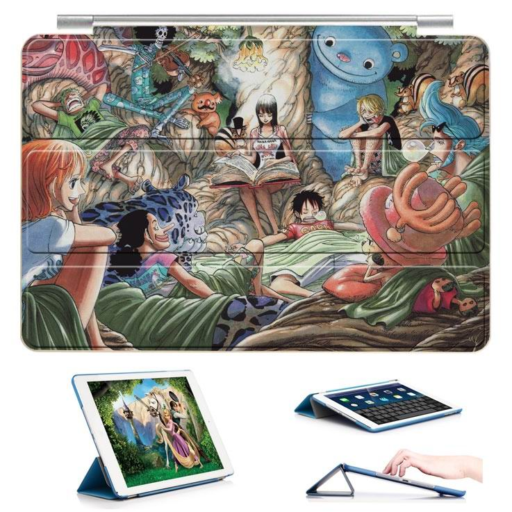 ipad air 2 case with 22 variants of cartoon pictures and with 3 stand 10: