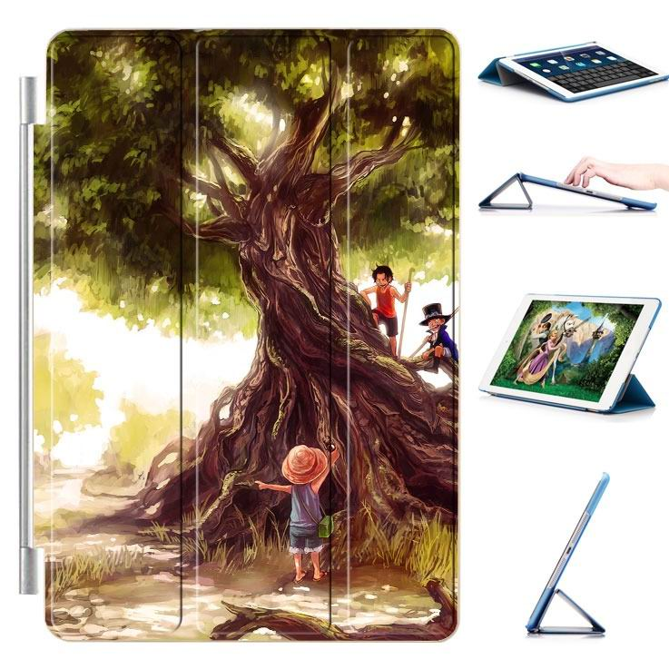 ipad air 2 case with 22 variants of cartoon pictures and with 3 stand 12: