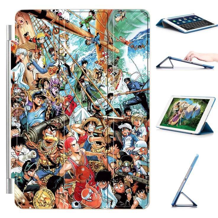 ipad air 2 case with 22 variants of cartoon pictures and with 3 stand 9: