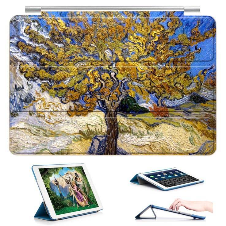 ipad air 2 case with a picture of oil painting and 3 stand Mulberry:
