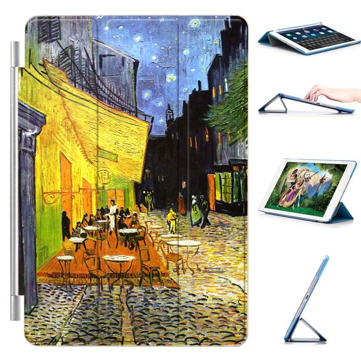 ipad air 2 case with a picture of oil painting and 3 stand Cafe: