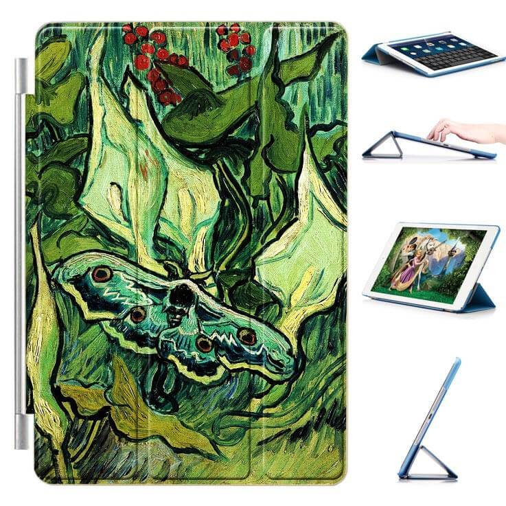 ipad air 2 case with a picture of oil painting and 3 stand Butterfly: