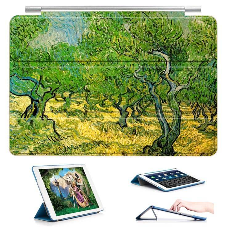 ipad air 2 case with a picture of oil painting and 3 stand Orchards: