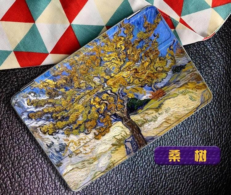 ipad air 2 case with a picture of oil painting and 3 stand