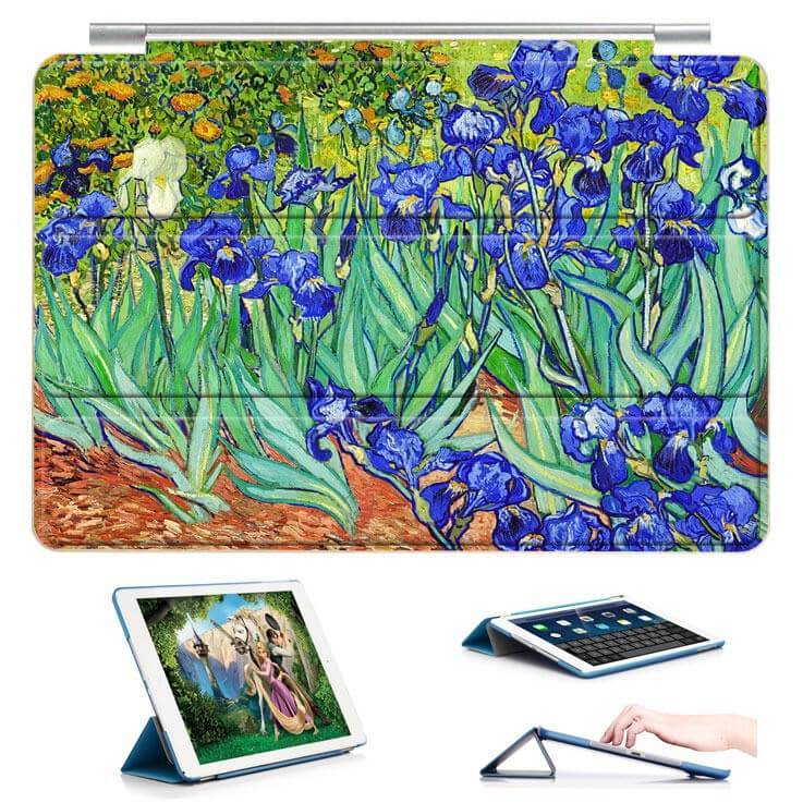 ipad air 2 case with a picture of oil painting and 3 stand Iris: