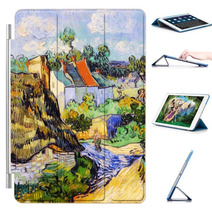 ipad air 2 case with a picture of oil painting and 3 stand Country house: