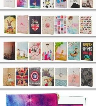 ipad air 2 case with a variety of pictures and with 2 stand
