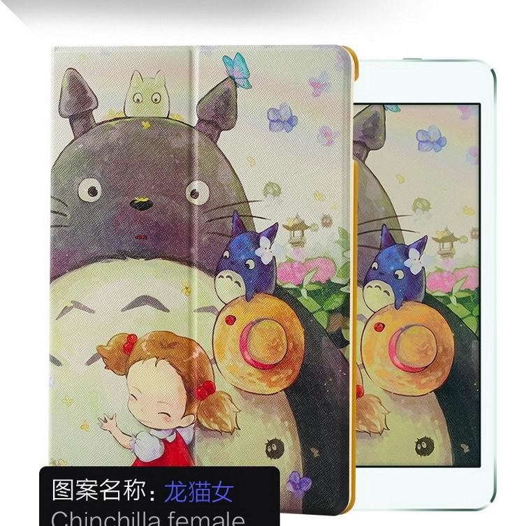 ipad air 2 case with a variety of pictures and with 2 stand Totoro:
