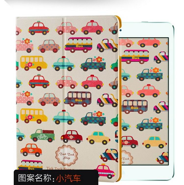 ipad air 2 case with a variety of pictures and with 2 stand Car: