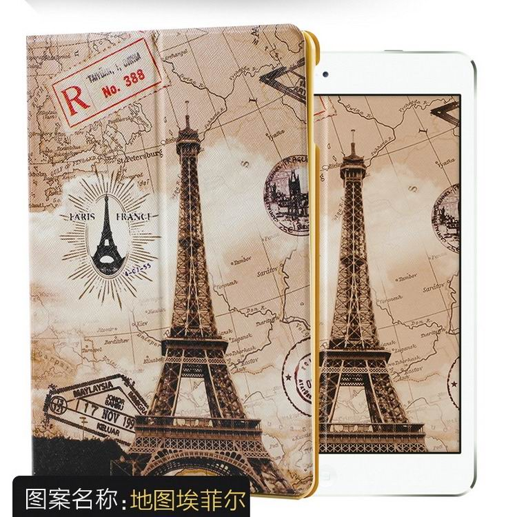 ipad air 2 case with a variety of pictures and with 2 stand Map Tower:
