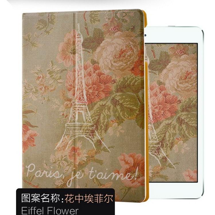 ipad air 2 case with a variety of pictures and with 2 stand Flowers Eifel: