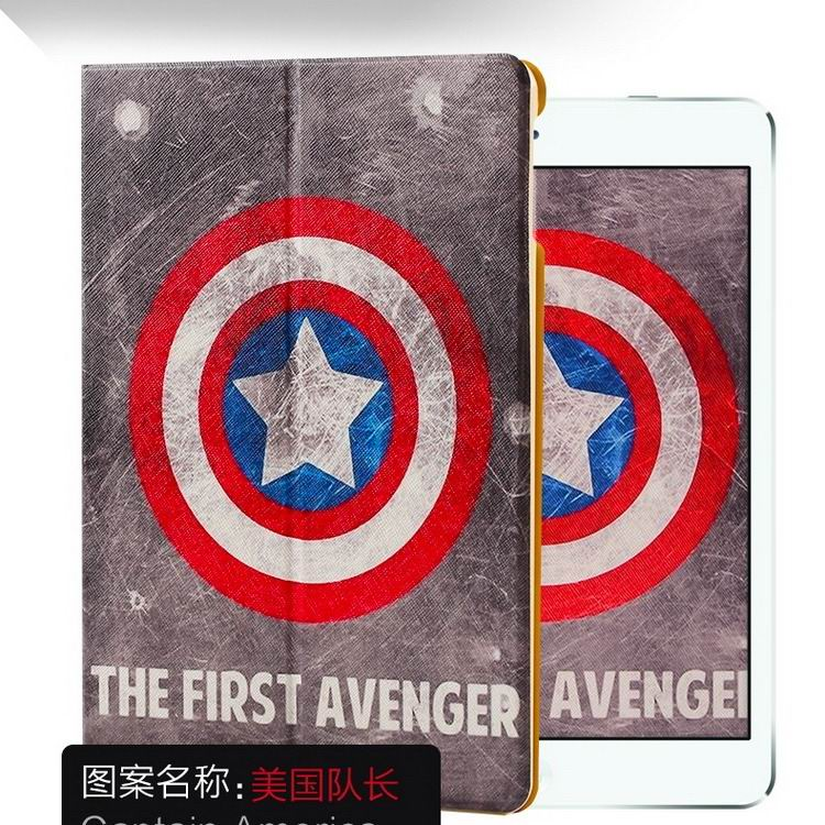 ipad air 2 case with a variety of pictures and with 2 stand Captain America: