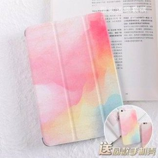 Case for woman with cute image of girl and with 2-stand for iPad Air 1, iPad Air 2