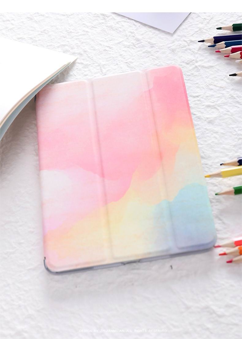 ipad air 2 case with watercolor pattern and 3 stand