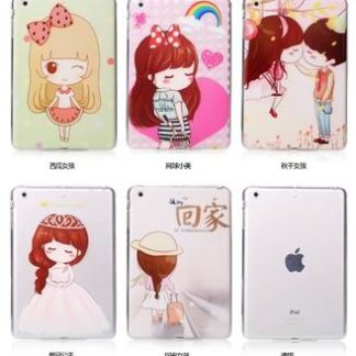 Case with a variety of pictures and with 2-stand for iPad Air 1, iPad Air 2