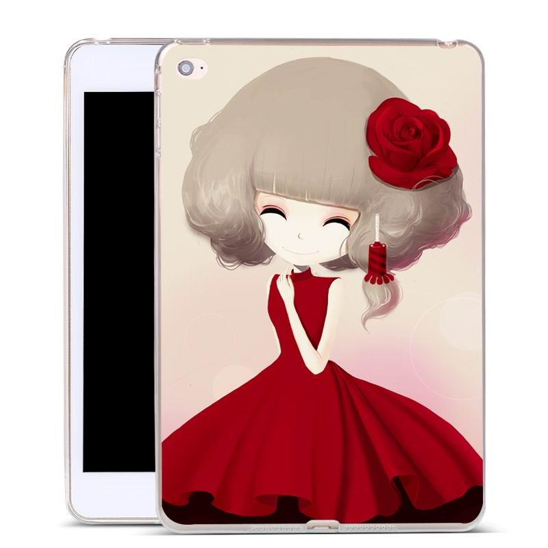 ipad air 2 silicone cover with a huge selection of pictures rose girl: