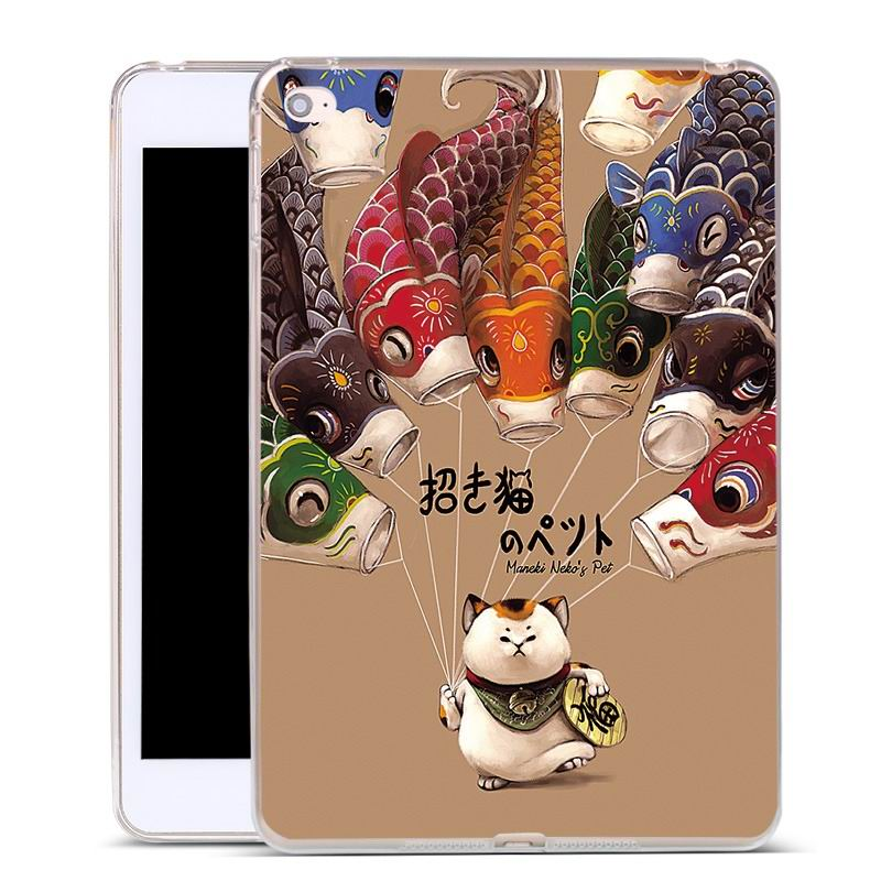 ipad air 2 silicone cover with a huge selection of pictures lucky cat: