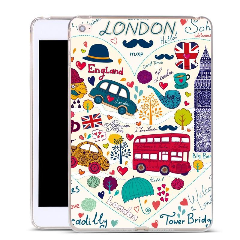 ipad air 2 silicone cover with a huge selection of pictures London bus: