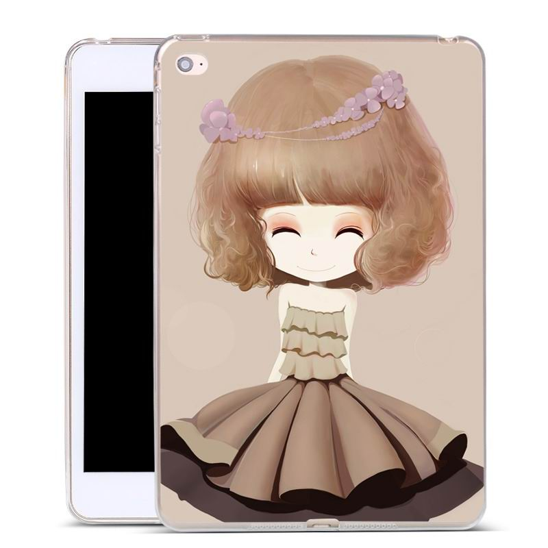 ipad air 2 silicone cover with a huge selection of pictures lilac girl: