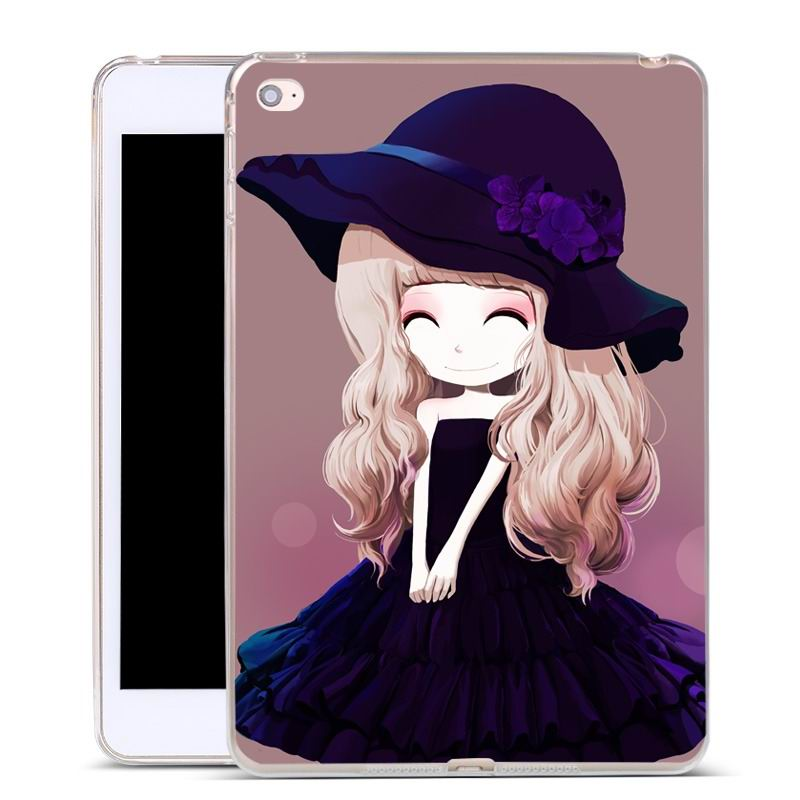 ipad air 2 silicone cover with a huge selection of pictures violet girl: