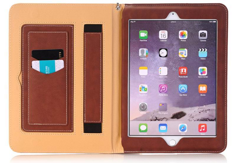 Business folio case with handle and card section for iPad Pro 12.9 inch (A1584, A1652)